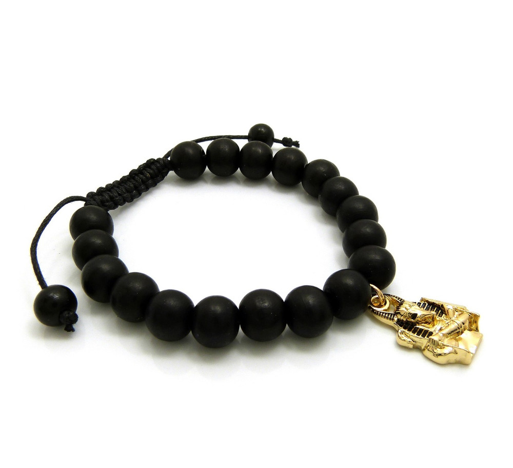 14k Gold Anubis Egyptian Bracelet