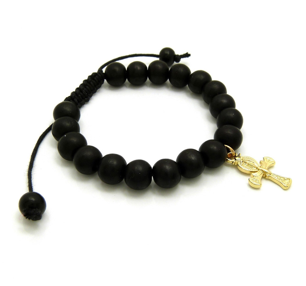 Falcon of Tutankhamun Ankh Cross Bracelet