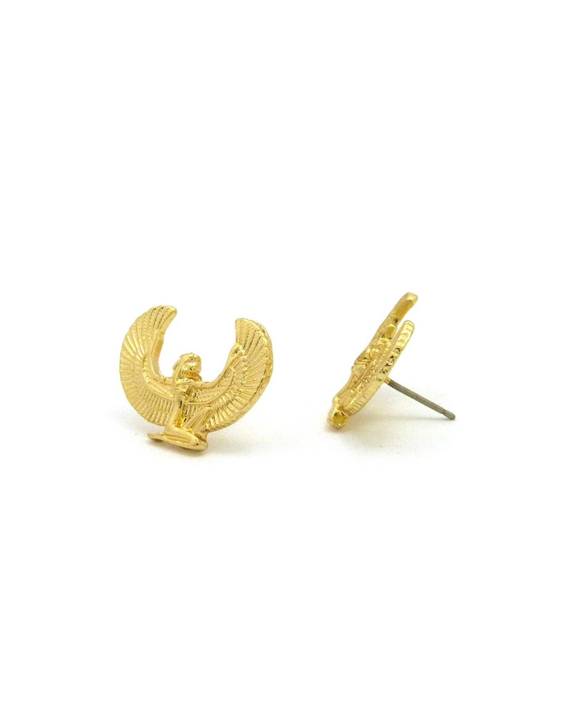 14k Gold Maat African Egyptian Earrings