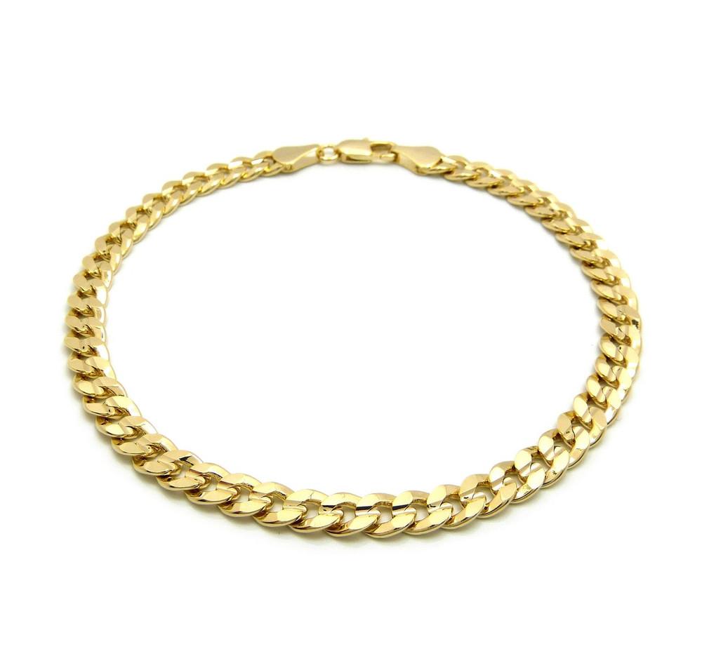 Cuban Chain Anklet 14k Gold
