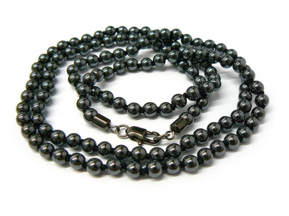 "Mens 4mm 36"" Beaded Link Hip Hop Chain Necklace Black"
