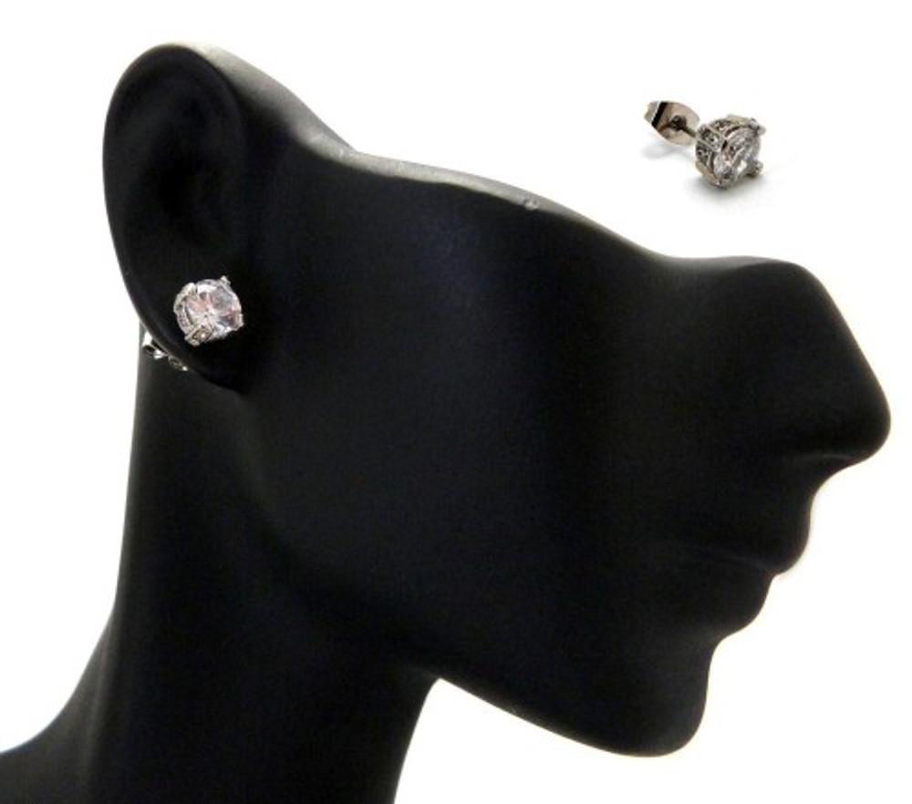 6mm Ice on Ice Round Cut Hip Hop Diamond Cz Earrings