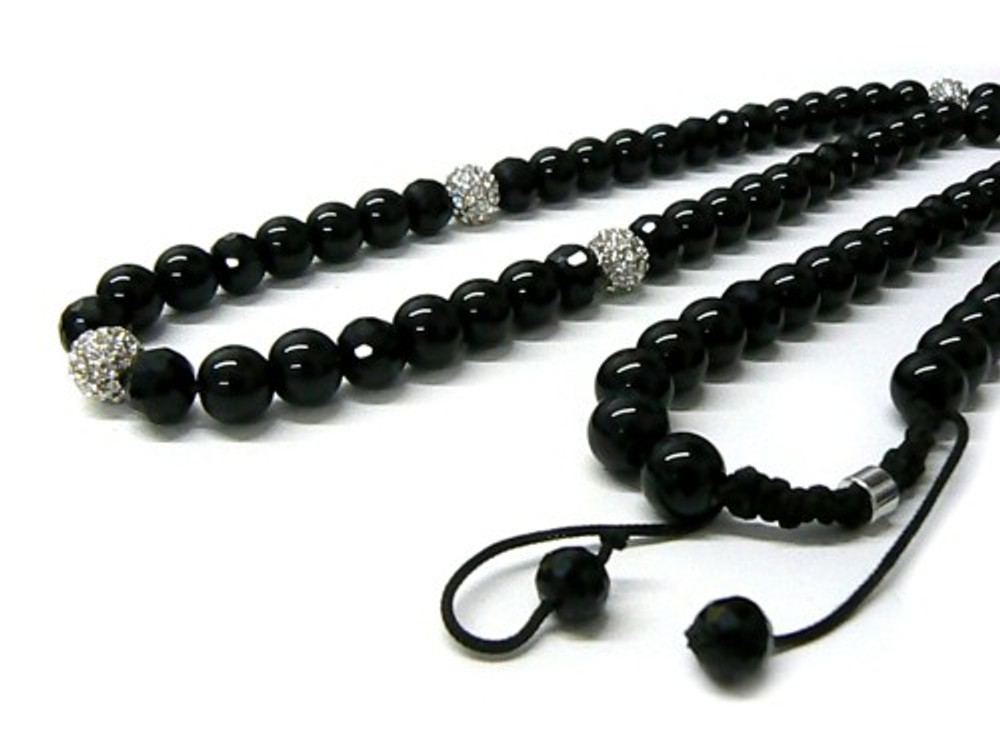Diamond Cz Stone Hip Hop Beaded Disco Ball Chain Necklace
