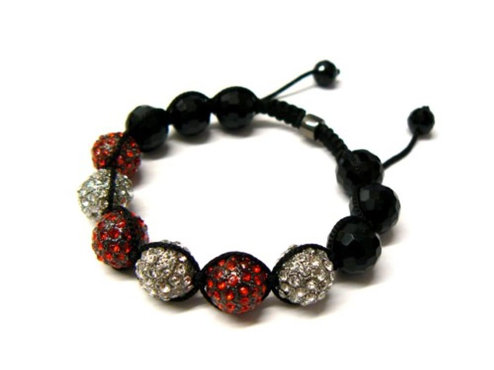 Black Hematite & Silver Cz Bling Bling Disco Ball Bracelet