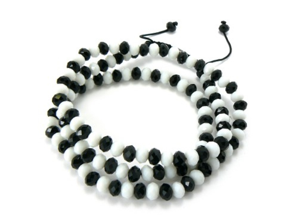 Solitaire Cz Black & White Disco Ball Hip Hop Chain Necklace