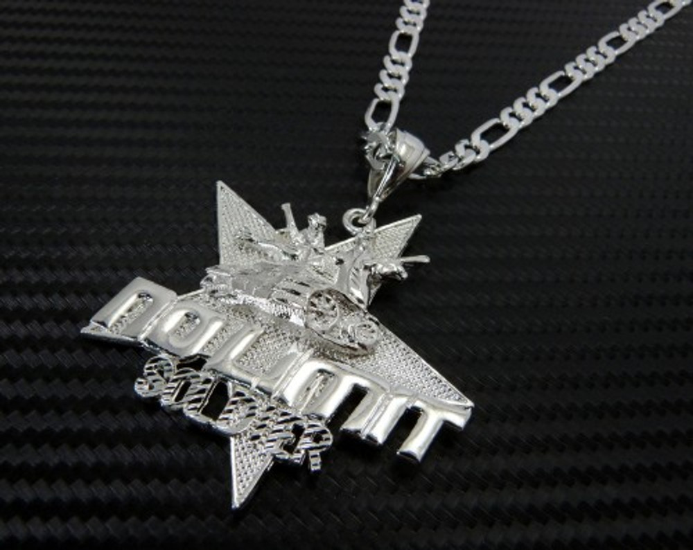 Hip Hop No Limit Tank Soldier Pendant Silver