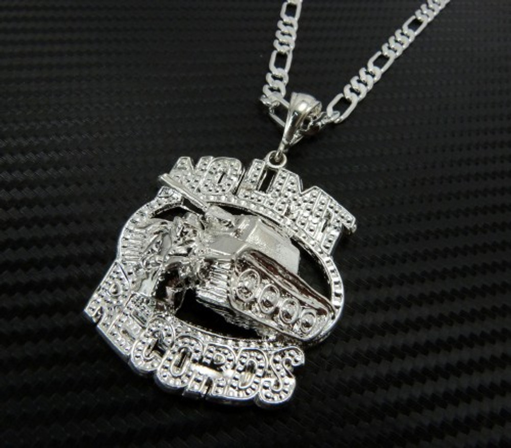 No Limit Records Hip Hop Pendant Chain Silver
