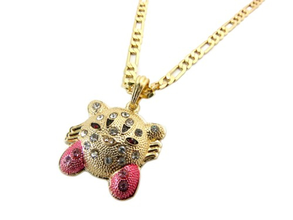 Iced Out Super Mario Kirby Pendant Gold