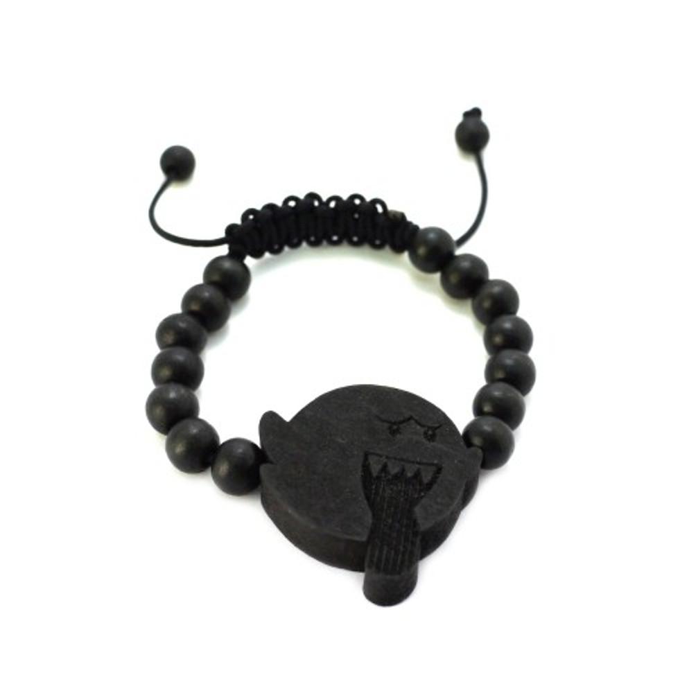 Evil Kirby Black Wood Adjustable Bracelet