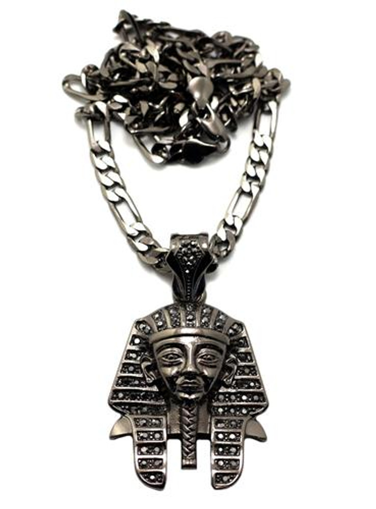 King Tut Hip Hop Pharaoh Pendant Black