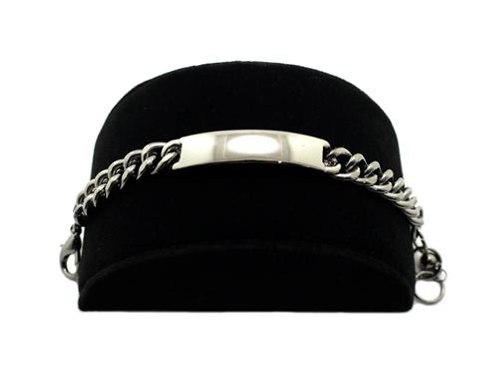 Rihanna Inspired Silver Small Chunky ID Bracelet