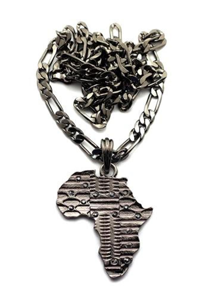 Mother Africa Cz Pendant Black