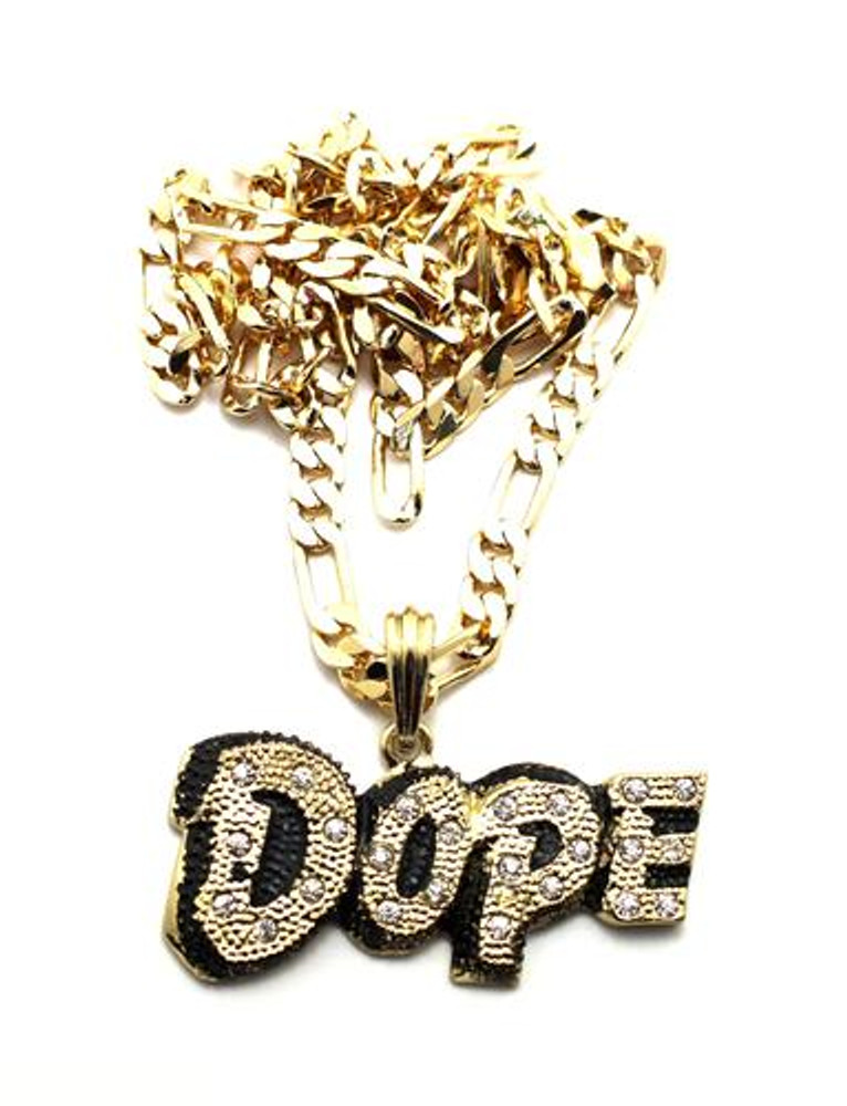 Chris Brown Inspired Dope Hip Hop Pendant Gold