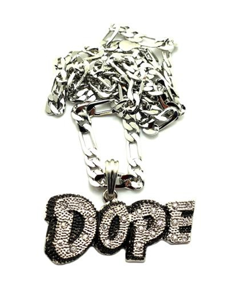Chris Brown Inspired Dope Hip Hop Pendant Silver