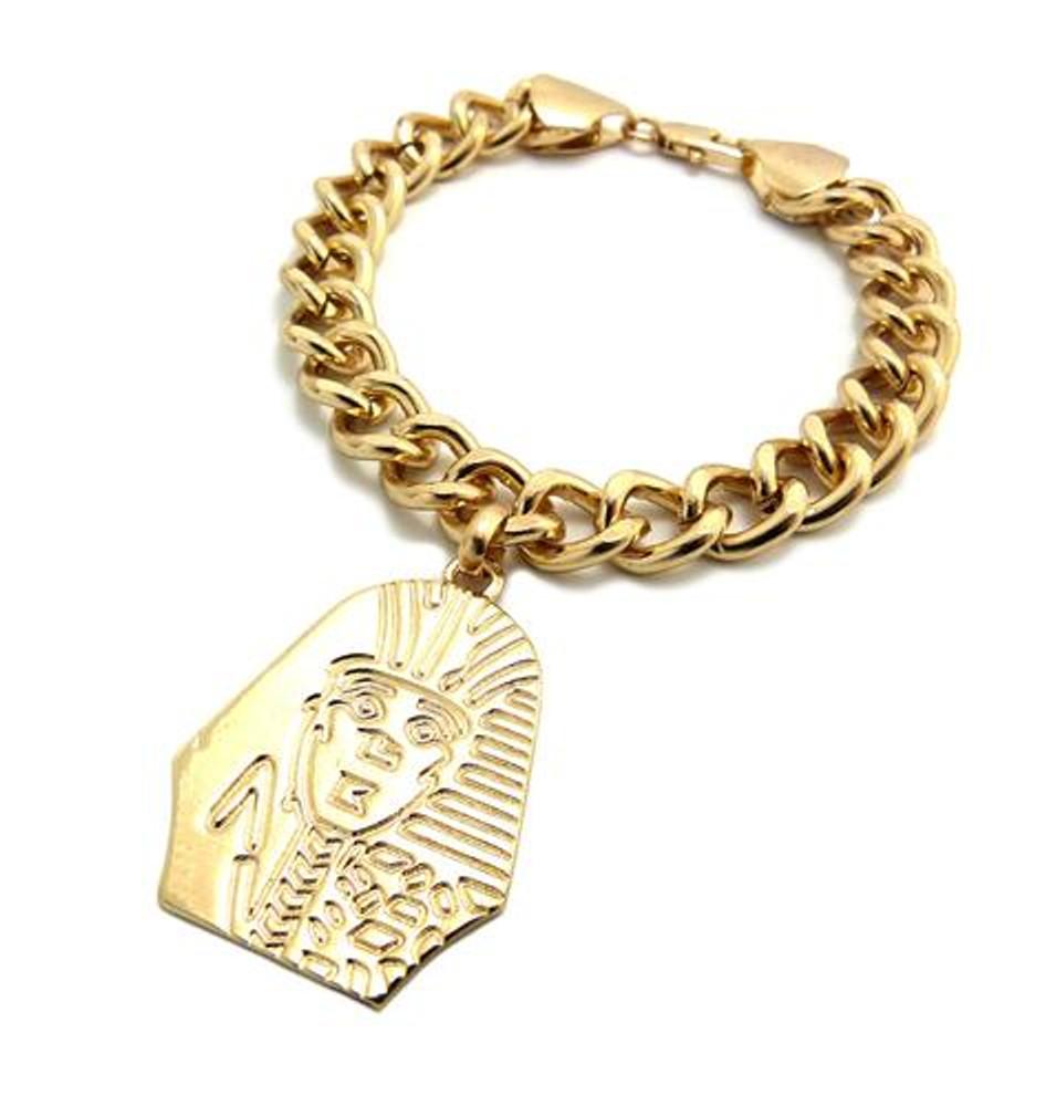 King Tut Hip Hop 14k Gold Gold Bracelet