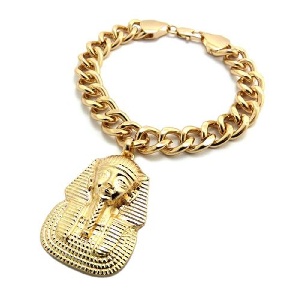 Pharaoh Hip Hop Gold Link Bracelet