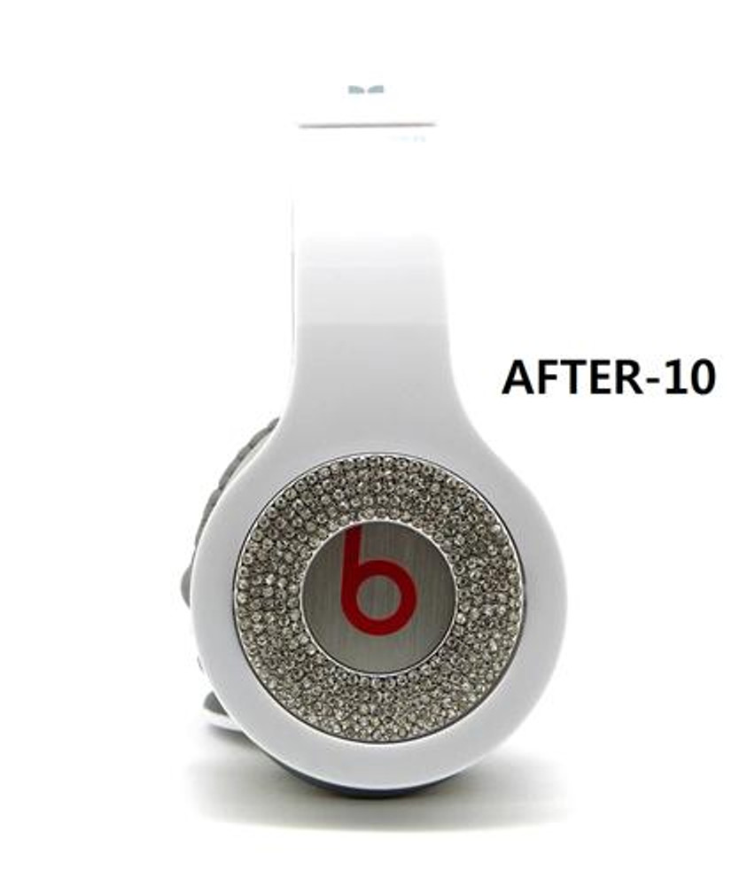 **Iced Out Beats Headphone Covers Silver Blinged Out Covers