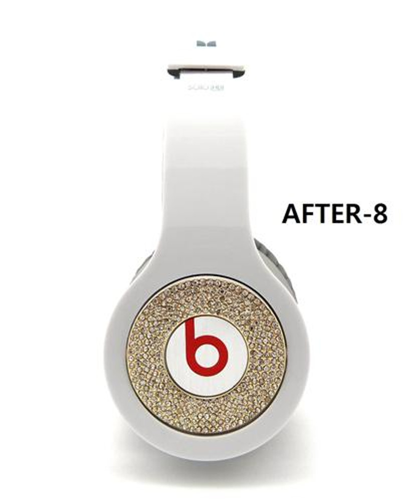 **Iced Out Beats Headphone Covers Gold Blinged Out Covers