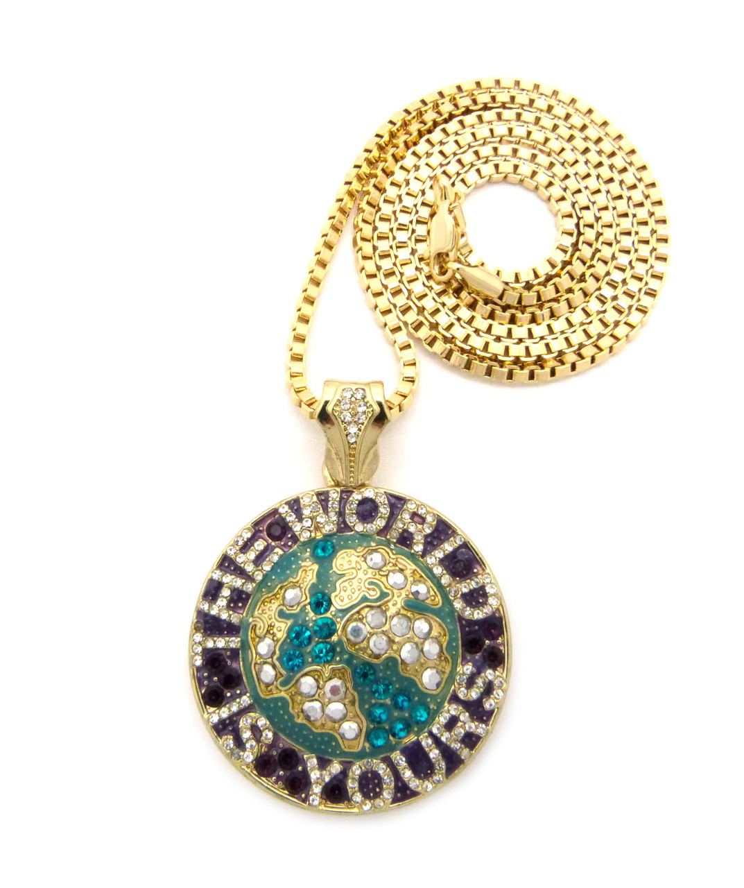 Iced out the world is yours scarface hip hop chain pendant green iced out the world is yours scarface hip hop chain pendant green aloadofball Images