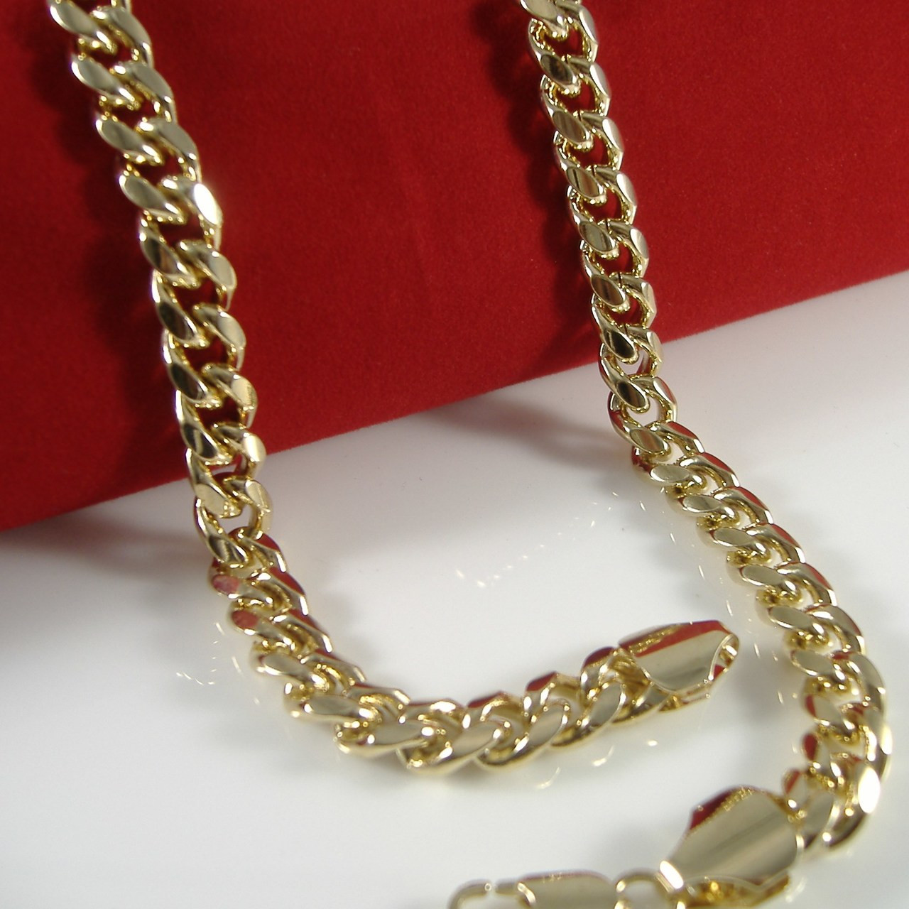 chain s mens pin silver necklace miami sterling men link cuban mm