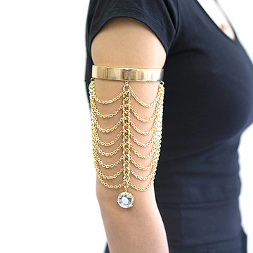 Ladies Celebrity Style Sexy Arm Bracelet Gold