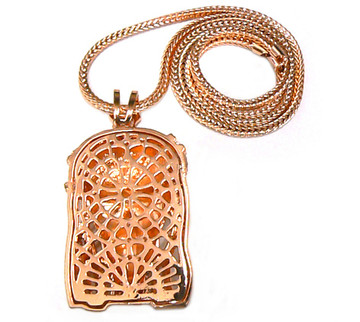 Crown Of Thorns Hip Hop Jesus Piece Pendant Rose Gold
