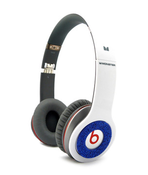 **Iced Out Beats Headphone Covers Blue Blinged Out Covers