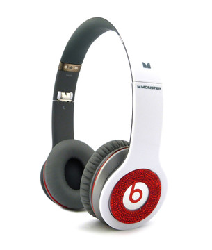 **Iced Out Beats Headphone Covers Red Blinged Out Covers