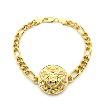 Hip Hop Medusa Illuminati Bracelet Gold