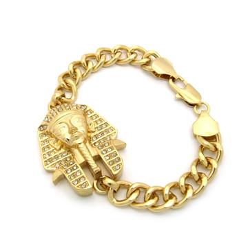 Hip Hop Egyptian Pharaoh Link Bracelet Gold