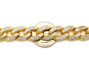 Diamond Cz Hip Hop 14mm Cuban Link Bling Chain Necklace