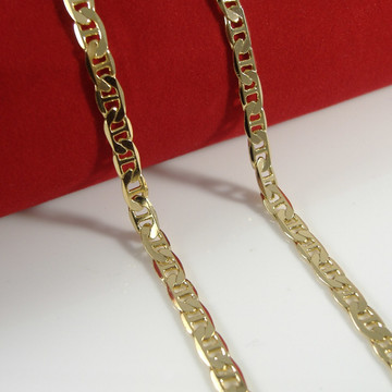 4.4mm 20 Inch Gold Mariner Link Hip Hop Chain Necklace