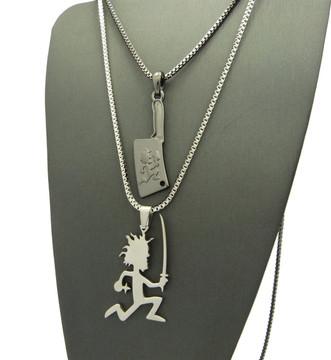 Hip Hop ICP Ninja Hatchet Man Pendant Chain Set
