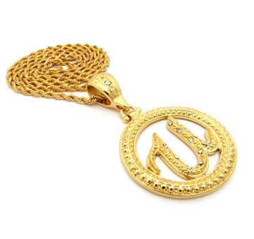 Hip Hop Old School Usher Rope Chain Link Pendant Chain Gold