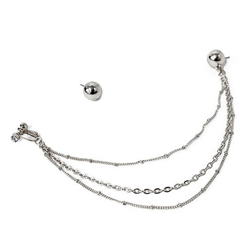 Nose Earring Chain Silver