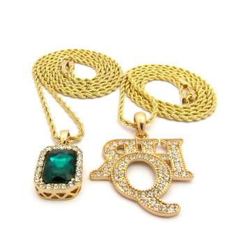 Hip Hop Rich Homie Quan Inspired Emerald Green Shield Pendant