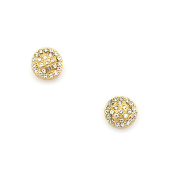Mens Iced Out Circle Cut Diamond Cz Magnetized Earrings Gold