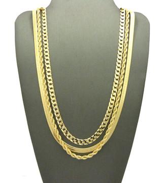 Gold Herringbone Chain