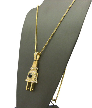 Coke Boys Inspired Iced Out Electric Energy Power Plug Pendant