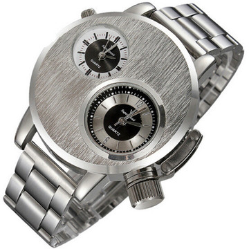 Double Movement Solid 316L Stainless Steel Wrist Watch
