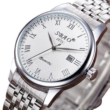 Men's GQ Classic Fashion Stainless Steel Band Analog Wrist Watch