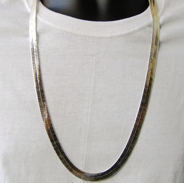 Sterling Silver Herringbone Link Chain