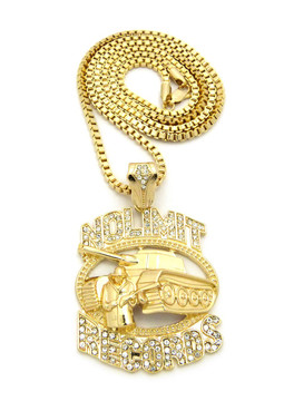 Diamond Cz Hip Hop No Limit Inspired Chain Pendant Gold