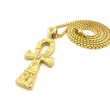 Gold Egyptian Ankh Cross