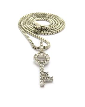 I Got Keys Hip Hop Diamond Cz Hip Hop Pendant Silver