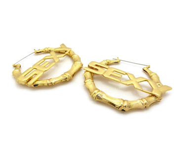 SEXY Pinhatch Door Knocker Earrings Gold