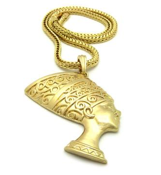African Queen Nefertiti Pendant Gold