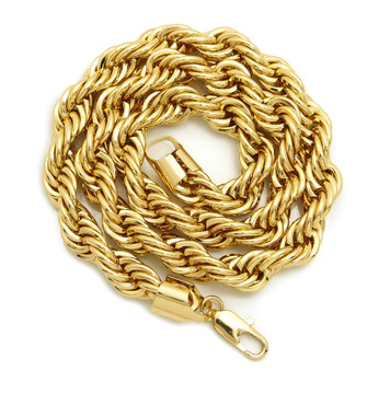 14k Gold Hip Hop 10mm Rope Chain Necklace