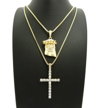 14k Gold Jesus Piece Cross