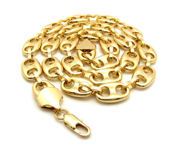 14k Gold Thick 12mm Marina Chain Necklace